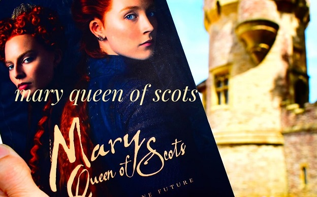queen of scots book in front of castle