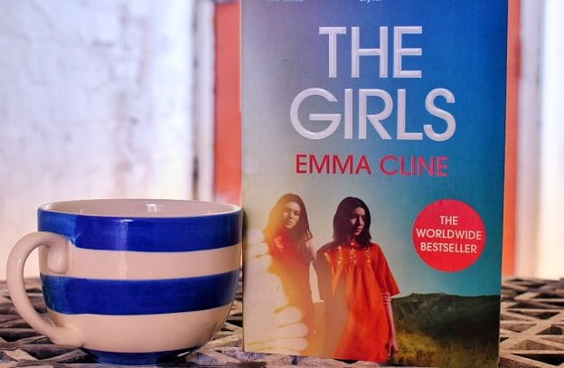 girls book on cafe table