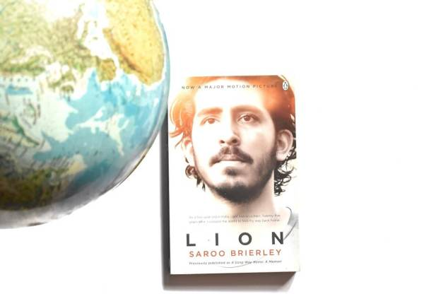 Lion book with earth