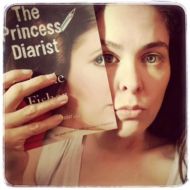 girl with princess diarist book