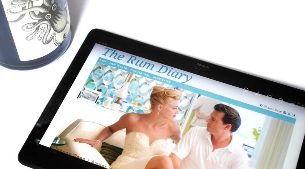 rum diary movie with drink