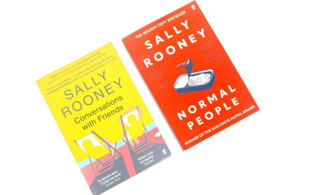sally rooney books on white background