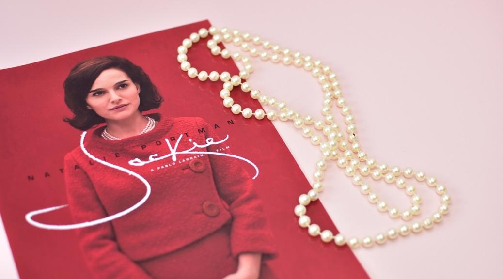 jackie pearls pink background