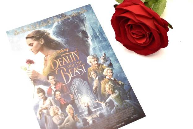 poster of beauty beast with rose