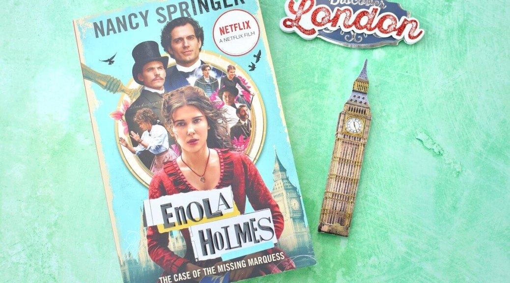 enola novel on green backdrop