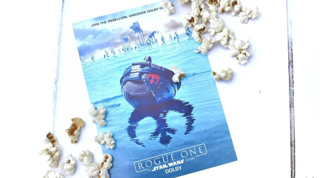 Rogue One poster with popcorn